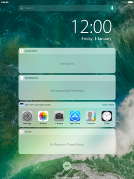 Apple iPad mini 4 iOS 10 - iOS features - Lock screen feature - Step 3