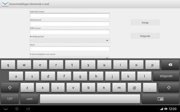 Sony SGP321 Xperia Tablet Z LTE - E-mail - e-mail instellen: POP3 - Stap 8