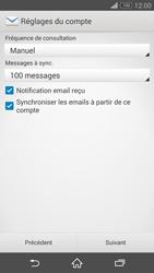 Sony D6603 Xperia Z3 - E-mail - Configurer l