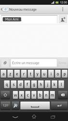 Sony Xpéria SP - Contact, Appels, SMS/MMS - Envoyer un SMS - Étape 9