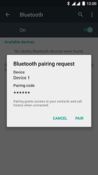 OnePlus 2 - WiFi and Bluetooth - Setup Bluetooth Pairing - Step 7