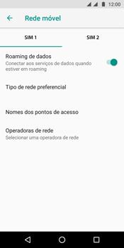 Motorola Moto G6 Plus - Rede móvel - Como ativar e desativar o roaming de dados - Etapa 6