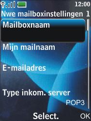 Nokia 6600 slide - E-mail - Handmatig instellen - Stap 14
