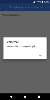 Sony Xperia XZ2 - Voicemail - handmatig instellen - Stap 12