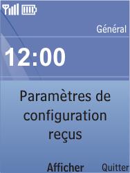 Nokia C2-05 - MMS - Configuration automatique - Étape 3