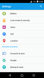 Sony Xperia Z5 - Android Nougat - Device maintenance - Create a backup of your data - Step 4