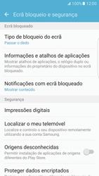 Samsung Galaxy S7 Edge - Segurança - Como ativar o código de bloqueio do ecrã -  5