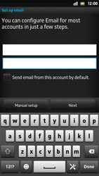 Sony LT26i Xperia S - E-mail - Manual configuration - Step 6