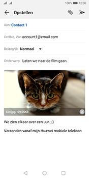 Huawei Mate 10 Pro Dual-SIM (Model BLA-L29) - Android Pie - E-mail - Bericht met attachment versturen - Stap 15