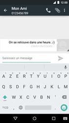 Motorola Moto E (1st Gen) (Lollipop) - Contact, Appels, SMS/MMS - Envoyer un SMS - Étape 9