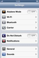 Apple iPhone 4 S iOS 6 - Internet - Usage across the border - Step 3