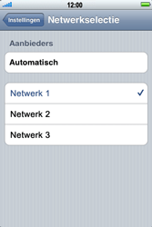 Apple iPhone 4 - Netwerk - Handmatig netwerk selecteren - Stap 8