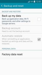 Samsung A500FU Galaxy A5 - Device maintenance - How to do a factory reset - Step 6