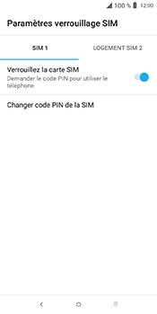 Alcatel 3L - Sécuriser votre mobile - Personnaliser le code PIN de votre carte SIM - Étape 6