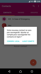 Sony Xperia XZ (F8331) - Contact, Appels, SMS/MMS - Ajouter un contact - Étape 5