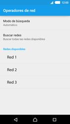 Sony Xperia M4 Aqua - Red - Seleccionar una red - Paso 8
