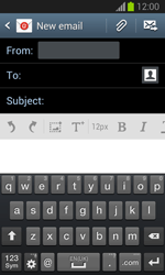Samsung S7390 Galaxy Trend Lite - E-mail - Sending emails - Step 5