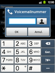 Samsung S5360 Galaxy Y - Voicemail - handmatig instellen - Stap 6