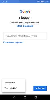 Huawei Mate 10 Pro Dual-SIM (Model BLA-L29) - Android Pie - Applicaties - Account aanmaken - Stap 5