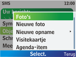 Nokia C3-00 - MMS - Afbeeldingen verzenden - Stap 5