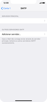 Apple iPhone X - iOS 12 - Email - Configurar a conta de Email -  18