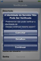 Apple iPhone iOS 5 - Email - Como configurar seu celular para receber e enviar e-mails - Etapa 12
