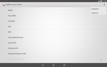 Sony Xperia Tablet Z2 (SGP521) - Internet - configuration manuelle - Étape 16