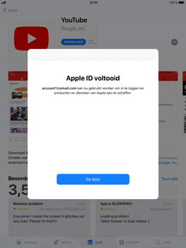 Apple iPad Mini 3 - iOS 11 - Applicaties - Account aanmaken - Stap 22