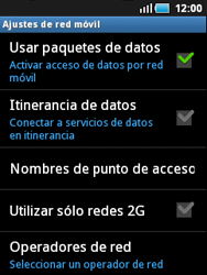 Samsung S5570 Galaxy Mini - Red - Seleccionar el tipo de red - Paso 6