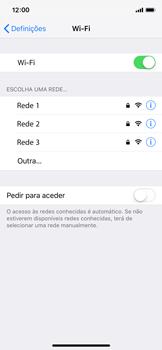 Apple iPhone XS - Wi-Fi - Como ligar a uma rede Wi-Fi -  5