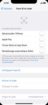 Apple iPhone X - Sécuriser votre mobile - Activer le code de verrouillage - Étape 4