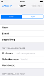 Apple iphone-5s-met-ios-12-model-a1457 - E-mail - Handmatig instellen - Stap 11