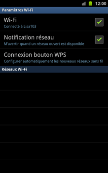 Samsung N7000 Galaxy Note - Wifi - configuration manuelle - Étape 8