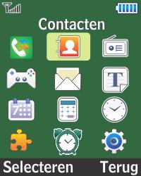 Samsung E1270 - Contacten en data - Contacten kopiëren van toestel naar SIM - Stap 3