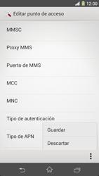 Sony Xperia Z1 - Mensajería - Configurar el equipo para mensajes multimedia - Paso 16