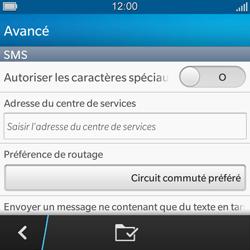 BlackBerry Q5 - SMS - configuration manuelle - Étape 7
