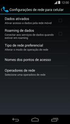 Motorola Moto E (1st Gen) (Kitkat) - Rede móvel - Como ativar e desativar uma rede de dados - Etapa 7
