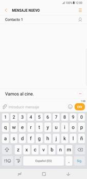 Samsung Galaxy Note 8 - Mensajería - Escribir y enviar un mensaje multimedia - Paso 11