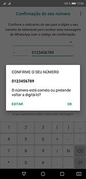 Huawei P20 - Aplicações - Como configurar o WhatsApp -  10