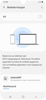 Samsung galaxy-a40-dual-sim-sm-a405fn - WiFi - Mobiele hotspot instellen - Stap 11