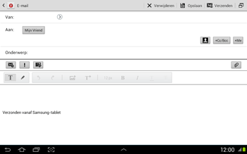 Samsung N8020 Galaxy Note 10-1 LTE - E-mail - Hoe te versturen - Stap 8