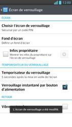 LG Optimus F5 - Sécuriser votre mobile - Activer le code de verrouillage - Étape 11