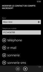 Nokia Lumia 735 - Contact, Appels, SMS/MMS - Ajouter un contact - Étape 8