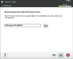 Nokia E66 - Software - PC-software installeren - Stap 8