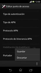 Sony Xperia L - Mensajería - Configurar el equipo para mensajes multimedia - Paso 16