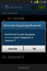 Samsung S6310 Galaxy Young - Bluetooth - connexion Bluetooth - Étape 10