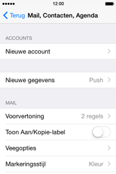 Apple iPhone 4S met iOS 8 (Model A1387) - E-mail - Handmatig instellen - Stap 5