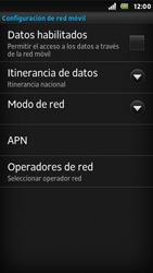 Sony Xperia U - Red - Seleccionar una red - Paso 6