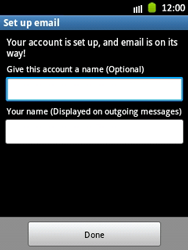 Samsung S5300 Galaxy Pocket - E-mail - Manual configuration - Step 16