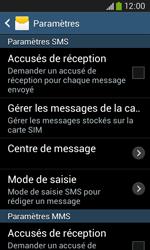 Samsung S7275 Galaxy Ace 3 - SMS - configuration manuelle - Étape 8